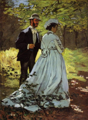 Les Promeneurs, Claude Monet, 1865, National Gallery of Art, Washington D.C. 93,5cm x 69,5cm
