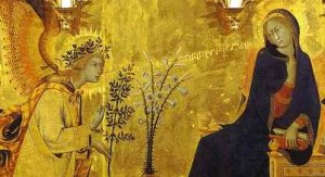 Triptyque de l'Annonciation (détail), Simone Martini, 1333, Florence, Offices