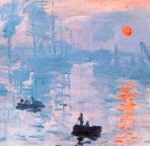 Impression, sunrise (detail)