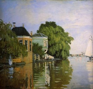 Zaandam (détail) Claude Monet 1871 MET New York USA