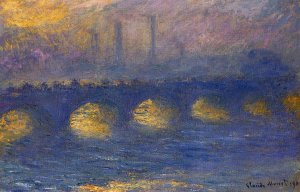 Waterloo Bridge, Temps couvert, par Claude Monet, 1901