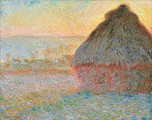 Meule, soleil couchant, Claude Monet 1891 Museum of Fine Arts, Boston, Massachusetts